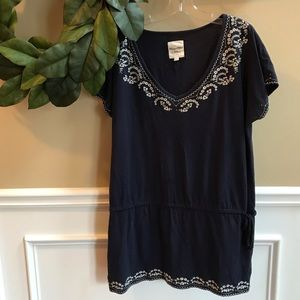 SALE✨[Heritage 1981] Navy Embroidered Tunic